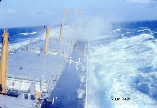 Sliedrecht (4a) op Atlantische Oceaan