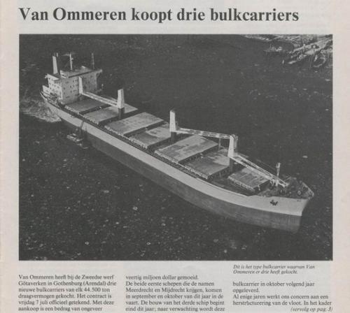 Aankoop M-schepen.