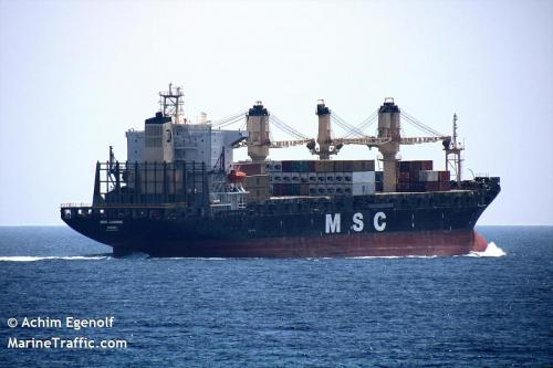 MSC JASMINE 3-2020 in Straits of Tiran / Gulf of Aqaba / Red Sea / Egypt