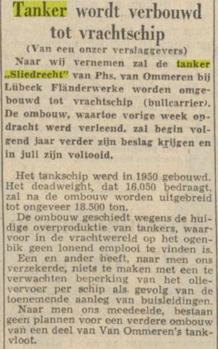 Ombouw Sliedrecht Trouw 22-12-1959